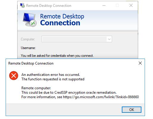 Remote Desktop (RDP) Issue [CredSSP] – Blacknight - Customer